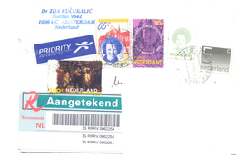 2000. Netherlands, The Letter Sent By Registered Post To Moldova - Periodo 1980 - ... (Beatrix)