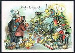A1894 - Glückwunschkarte - Weihnachten - Kinder Geschenke Spielzeug - Cefischer - Ohne Zuordnung