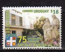 "Uruguay 2005 The 75th Anniversary Of The ""San Juan Bautista"" School, Montevideo.St. John's University.MNH - Uruguay"