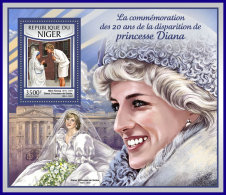 NIGER 2017 ** Mother Teresa Mutter Teresa Mere Teresa Princess Diana S/S - OFFICIAL ISSUE - DH1712