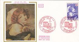 France , Premier Jour Timbre Croix Rouge N° 1700 Et 1701 TOURNUS 1971 - Marcophilie (Lettres)