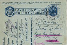 FRANCHIGIA WWII POSTA MILITARE 12 1942 PRIZREN KOSSOVO X P.M. 9 ROMA - 1900-44 Vittorio Emanuele III
