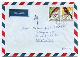 - TCHEQUIE / CESKA REPUBLIKA - Lettre PRAHA / PRAGUE Pour NICE (France) 29.12.1994 - Bel Affranchissement Philatélique - - Tchéquie