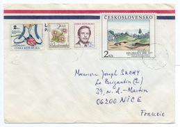 - CESKOSLOVENSLO + CESKA REPUBLIKA - Lettre PRAHA / PRAGUE Pour NICE (France) 1992 - A ETUDIER - - Czech Republic