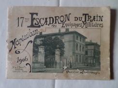 82 MAUTAUBAN-ALBUM DE 16 PHOTOS DU 17me ESCADRON DU TRAIN DES EQUIPAGES MILITAIRES 1906 ( 27.5 Sur 19.5 ) - Montauban