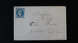 France - Enveloppe - 20c Bleu Napoléon III Lauré - Année 1869 - 1849-1876: Classic Period