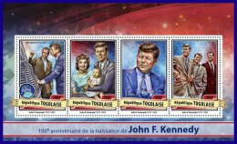TOGO 2017 ** 100th Birthday John F. Kenndy M/S - OFFICIAL ISSUE - DH1712