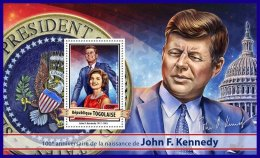 TOGO 2017 ** 100th Birthday John F. Kenndy S/S - IMPERFORATED - DH1712