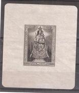 LUXEMBOURG , 1945 : Bloc Feuillet N° 4  Oeuvres De Secours , Vierge à L'Enfant 50 F + 50 F Noir  , Neuf ( *)  TB - Blocks & Kleinbögen