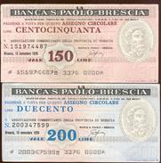 #A1860. Banca S. Paolo-Brescia 1976. 150 & 200 Lire Notes Used. - Italy