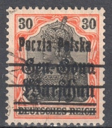 Poland 1918 GG Warsaw Overprint - Mi.11 - Used