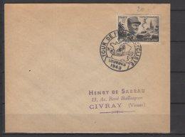 Etape Du Tour De France - Oblitérations Sur Lettre  -  Lourdes -  08 / 07 / 1948 - Postmark Collection (Covers)