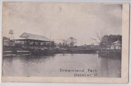 DECATUR (Illinois) - Dreamland Amusement Park 1905 - Manège Forain - Parc D'attraction - Early Ppc - Etats-Unis