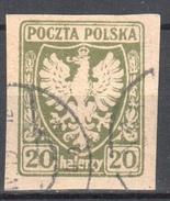 Poland 1919 - Polish Eagle - Mi.60 - Used - Gebraucht