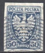 Poland 1919 - Polish Eagle - Mi.62 - Used - Gebraucht