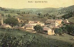 CPA - COURS (69) - Vue Du Quartier De L'Isle Au Début Du Siècle - Carte Aspect Toilé - Cours-la-Ville