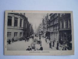 Amsterdam // Jodenbreestraat (judaica) Zeer Geanimeerd Straatleven // Gelopen 1903 - Amsterdam