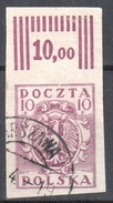 Poland 1919 -  Issues For Northern Poland - Mi.91 - Imperfor.  - Used - 1919-1939 Republik