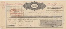 Lettre Change 15/4/1876 AMOUROUX Et LEPRINCE Mérinos REIMS Marne Pour Félix Bertrand Macau Gironde - Bills Of Exchange