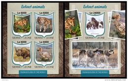 SIERRA LEONE 2016 - Extinct Animals, M/S + S/S. Official Issue. - Préhistoriques