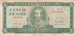CUBA   5 Pesos   1988   P. 103d - Cuba