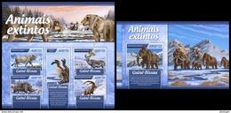 GUINEA BISSAU 2017 - Extinct Animals. M/S + S/S. Official Issue - Prehistorisch