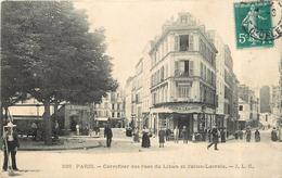 PARIS -Carrefour Es Rues Du Liban Et Julien-Lacroix.(carte Vendue En L'état) - Arrondissement: 20