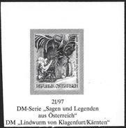 Austria/Autriche: Prova Per La Stampa, Proof For Printing, épreuve Pour L'impression, Il Drago Di Klagenfurt, Le Dragon - Fiabe, Racconti Popolari & Leggende