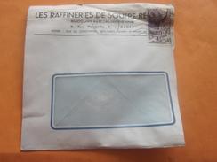 France  Ex-colonie Française   Algérie - 1 Lettre à Entête & Document OMEC Alger Strasbourg Timbre Fr De Collection - Covers & Documents