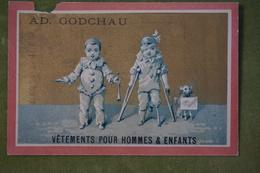 Ad Godchau - Série Pierrot - Handicapé, Chien D'aveugle - Fond Or - Imp. Testu Et Massin Vers 1880 - Altri