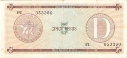 CUBA   5 Pesos   ND   P. FX 34 - Cuba