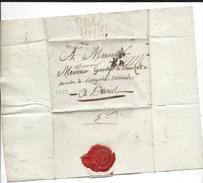 Port Payé De St Flour En 1789 Daté De Murat 3 Dec 1789 + Franc Manuscrit RARE - 1701-1800: Voorlopers XVIII