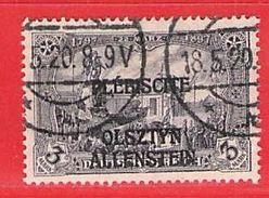 MiNr.14 O Deutschland Deutsche Abstimmungsgebiete Allenstein - Germany