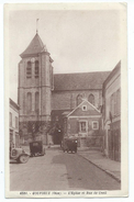Gouvieux - L'Eglise Et Rue De Creil - Gouvieux