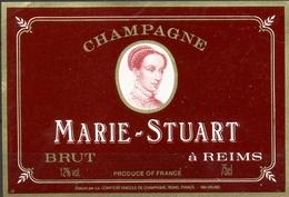 561 - Champagne Marie Stuart - Brut - Reims - Etiquette Pourpre - Champagne