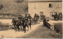 Guerre 14/18  Armée Belge   Batterie D'artillerie En Marche - Guerre 1914-18