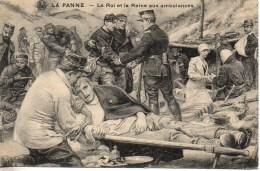 Guerre 14/18  LA PANNE  Le Roi Et La Reine  Aux Ambulances - Guerre 1914-18