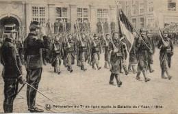 Guerre 14/18  Décoration Du 7e De Ligne Après La Bataille De L'Yser - Guerre 1914-18