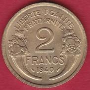 France 2 Francs Morlon - 1940 SUP/FDC - France