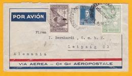 ARGENTINE PAR AVION - LOT De 4 Enveloppes De 1928 à 1935 - Ligne Mermoz, CGA Aéropostale, Air France, Condor - Argentina