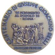 [NC] MEDAGLIA ROMA CENTENARIO GIUSEPPE GIOACHINO BELLI 50 Mm OPUS VERGINELLI - Italia