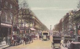 75. PARIS. CPA COLORISEE.  ANIMATION BUS ET VOITURES BOULEVARD DES CAPUCINES. - Distretto: 09