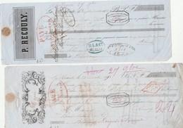 Lettre Change N° 16 Avec Copie 28/10/1852 P RECOULY LA REDORTE Aude Pour Boué Lalande Vins Bordeaux Par Banque De France - Lettres De Change