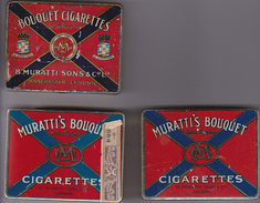 3 Boites Cigaretttes Muratti's - Schnupftabakdosen (leer)