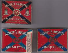 3 Boites Cigaretttes Muratti's - Boites à Tabac Vides