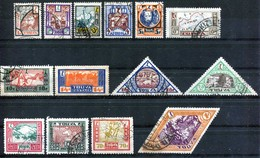 Russia , Tuva , SG 15-25 , 26a , 27-8 ;  1927 , Definitives  , Complete Set , Used Except 14k MH (SG 22) - 1923-1991 USSR