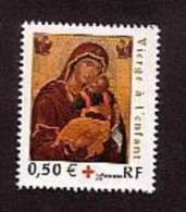 2004-N° 3717** VIERGE A L´ENFANT.CROIX ROUGE - France