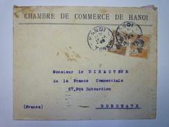 ENVELOPPE Au Départ De HANOÏ  à Destination De  BORDEAUX   1925   - Indochine (1889-1945)