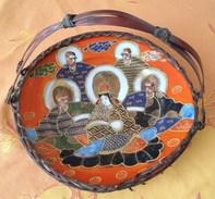 Coupe De Fruits Porcelaine Fine Chinoise Avec Anse En Osier Origine . Periode < 1900-1920 .24 X 3 Cm.(bien De Famille) - Art Asiatique