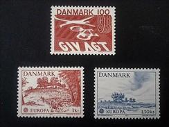 1977  Trafic Routier Acte  Mi.-Nr.637**),Europa-paysages Mi.-Nr.639-640 **) - Ungebraucht